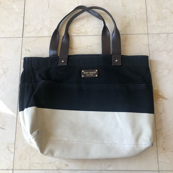 Kate Spade Color Block Purse with Leather Handles